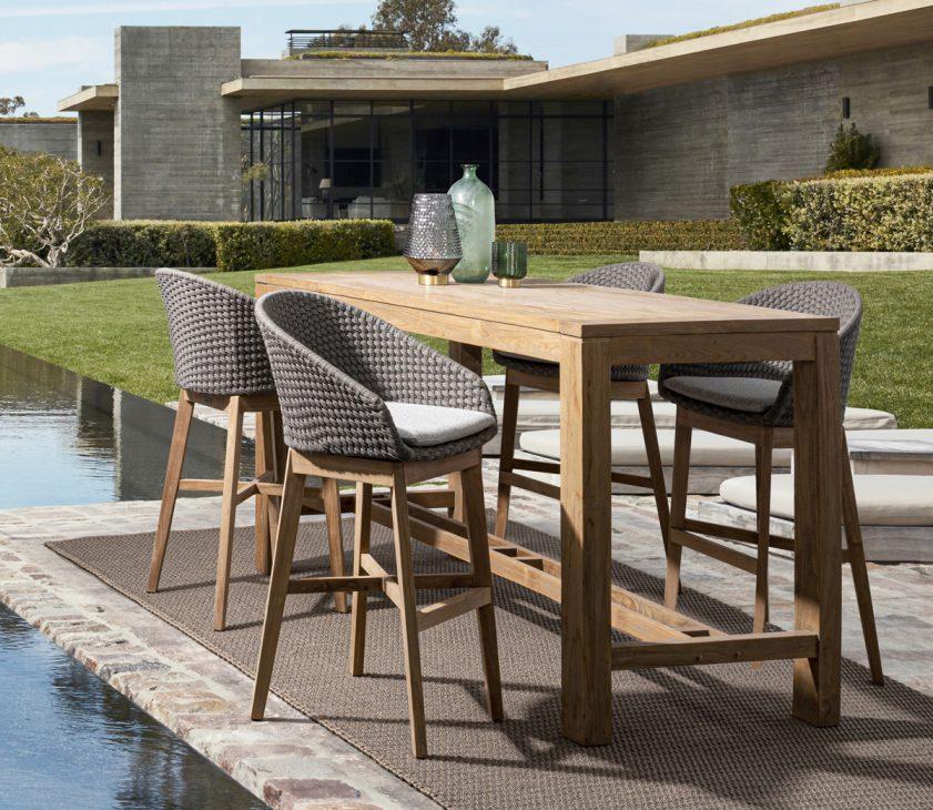 Tavolo bar e sgabelli alti per giardino Bizzotto